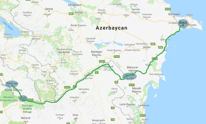 Nahçıvan'dan Azerbaycan'a Nasıl Gidilir?