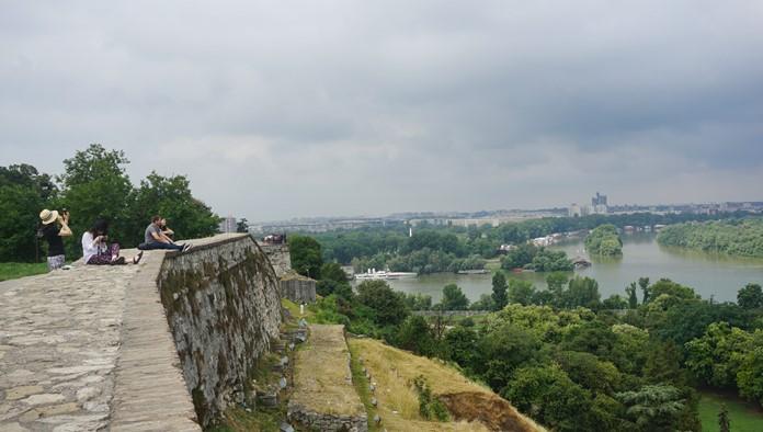 Belgrad Kalesi'nden Sava Nehir Manzarası