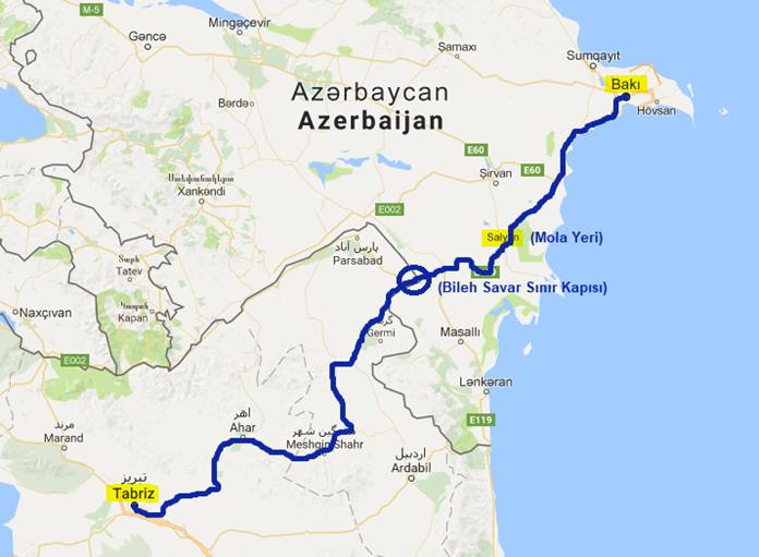 Tebriz Bakü Otobüs Yolculuğu