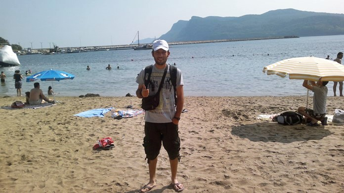 Amasra plajı ve Amasra'da deniz tatili.