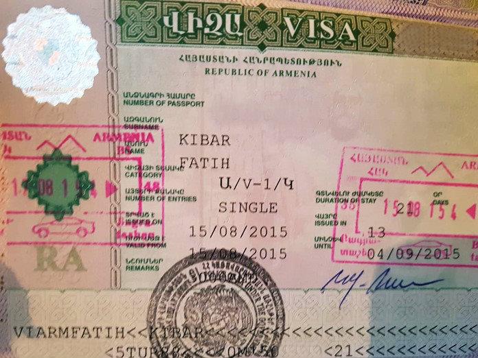 Ermenistan vizesi nasıl alınır hakkında bilgiler.