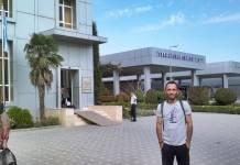 Bilehsuvar Sınır Kapısı, Azerbaycan. Tebriz Bakü arası otobüs yolculuğu