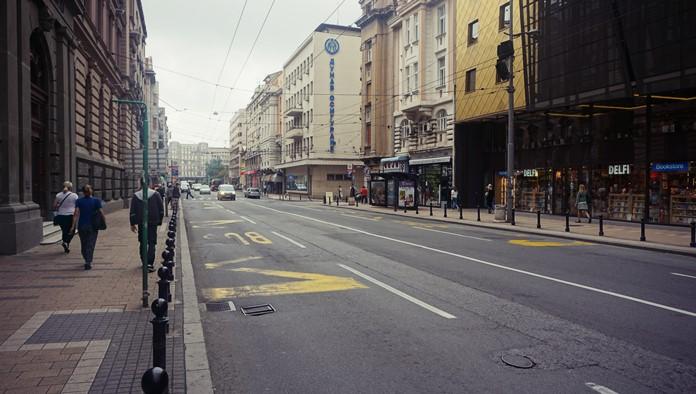Belgrad Cumhuriyet Meydanı'na Giden Yol