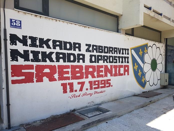 Srebrenitsa Katliamı Anısına Graffiti, Mostar