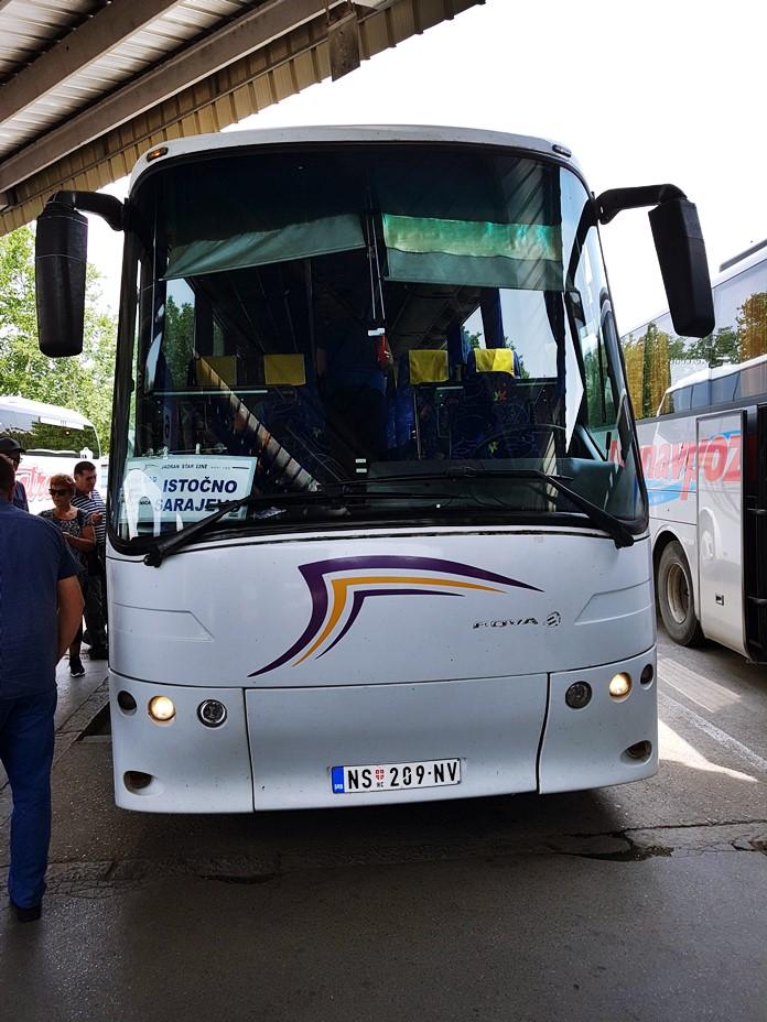 Novi Sad - Saraybosna Arası Çalışan Otobüs