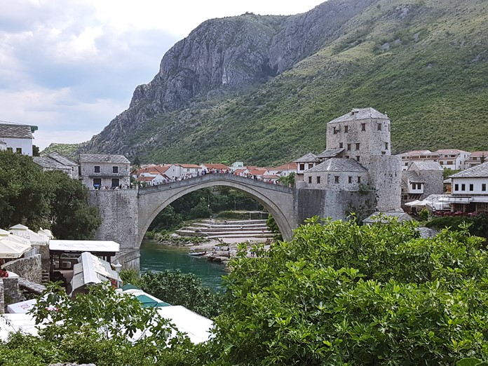 Mostar Köprüsü Manzarası