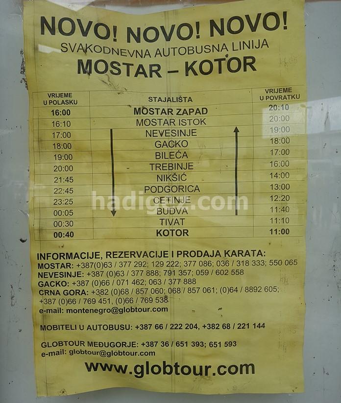 Mostar-Kotor Arası Otobüs Yolculuğu