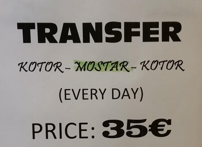 Mostar-Kotor Arası Taksi Yolculuğu